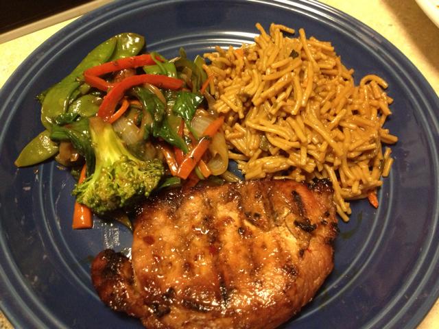 Served with teriyaki noodles and homemade veggie stir fry. Astounding ...