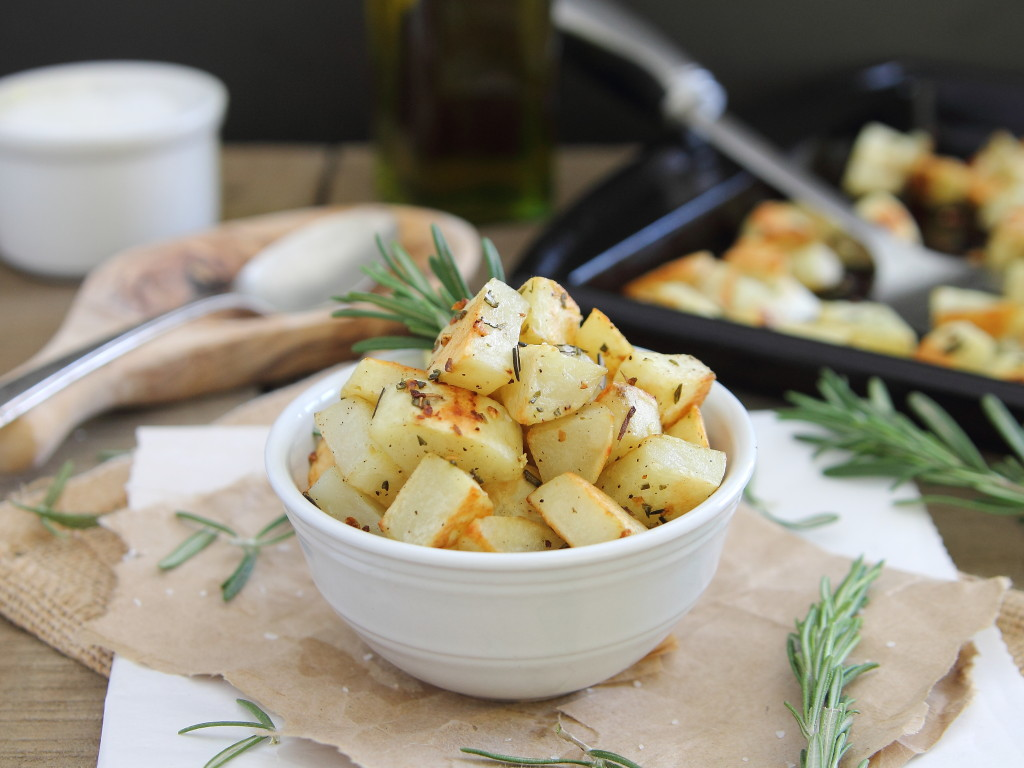 Recipes Course Side Dish Potatoes Garlic Rosemary Roasted Potatoes