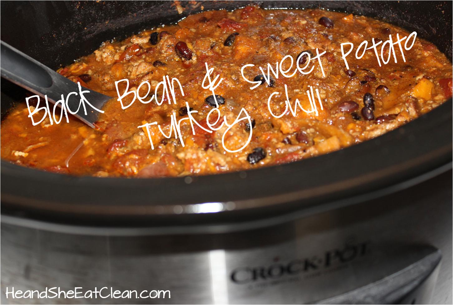 ... Dish Slow Cooker Crock Pot Black Bean And Sweet Potato Turkey Chili