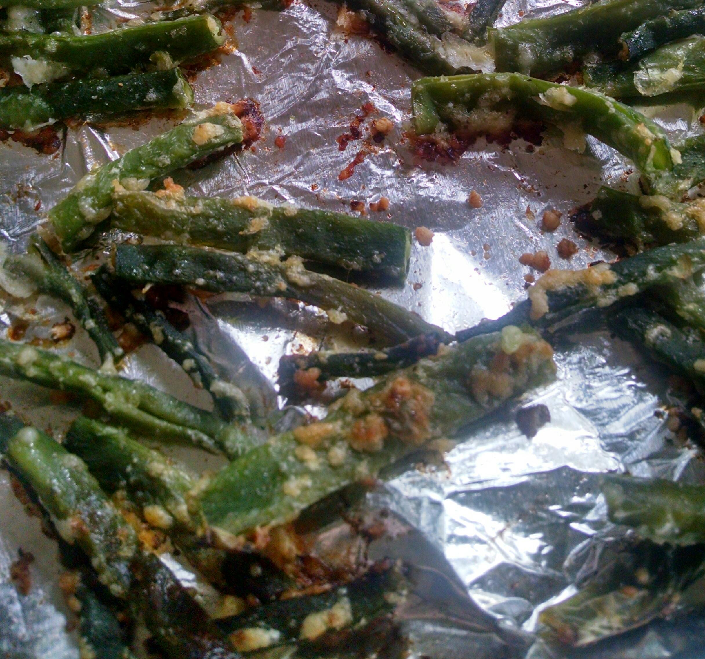 Crispy Baked Parmesan Green Bean Fries