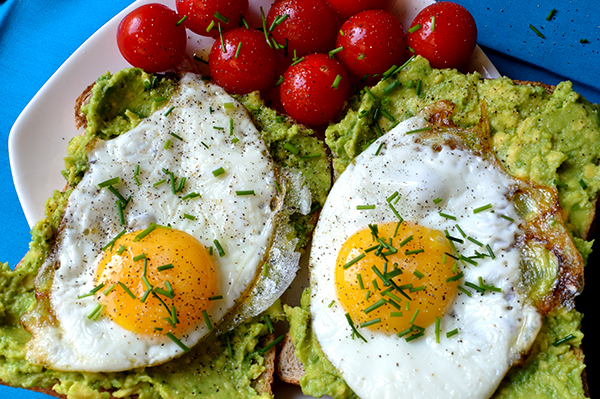 ... Breakfast Egg Dishes Avocado Toast on Whole Grain Bread with Egg
