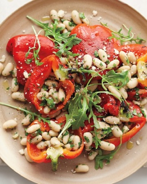 ... Vegetable Salads Roasted Red-Pepper Salad with Anchovy White Beans