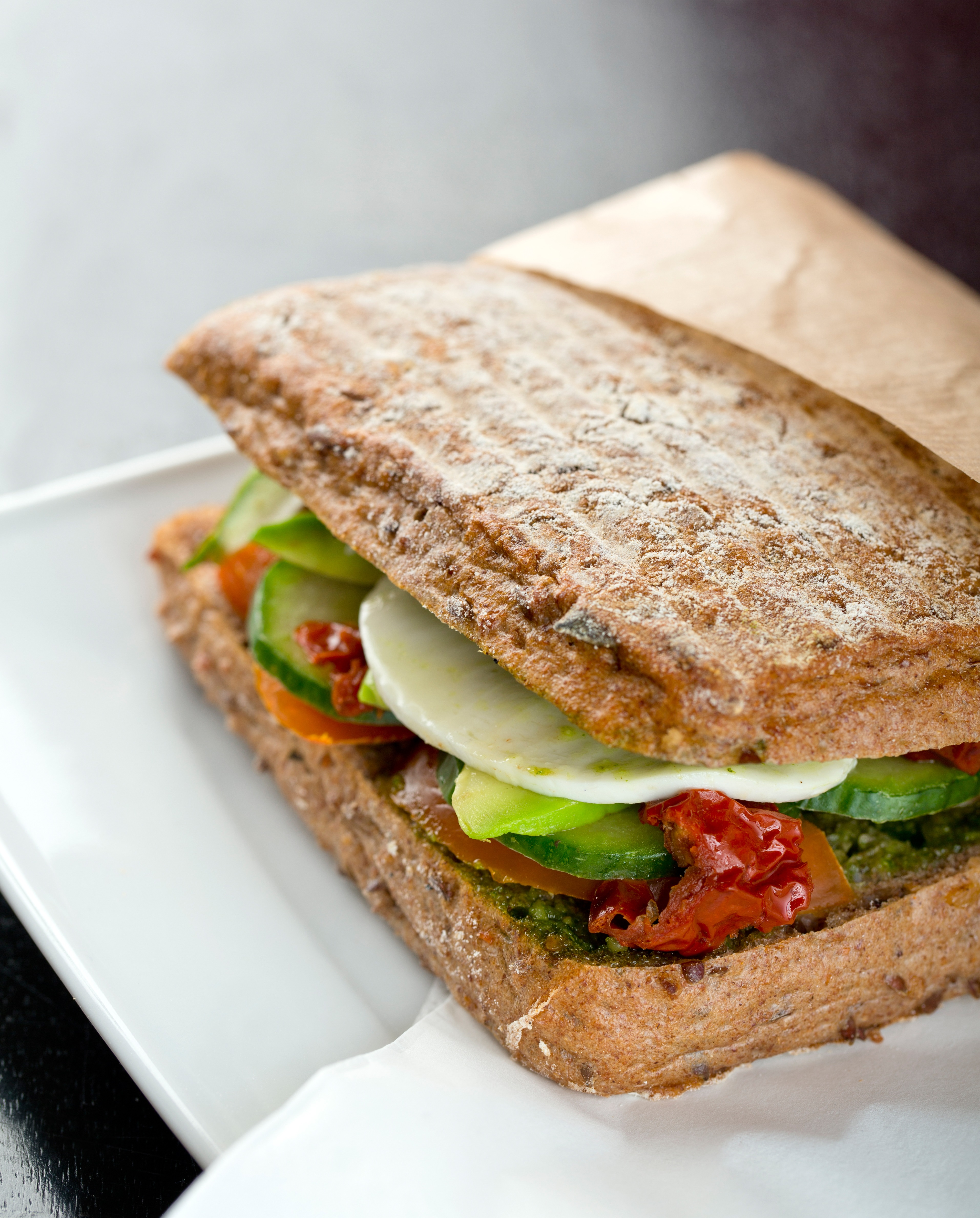 ... Dish Sandwiches and Wraps Mozzarella, Tomato, Pesto & Avocado Sandwich