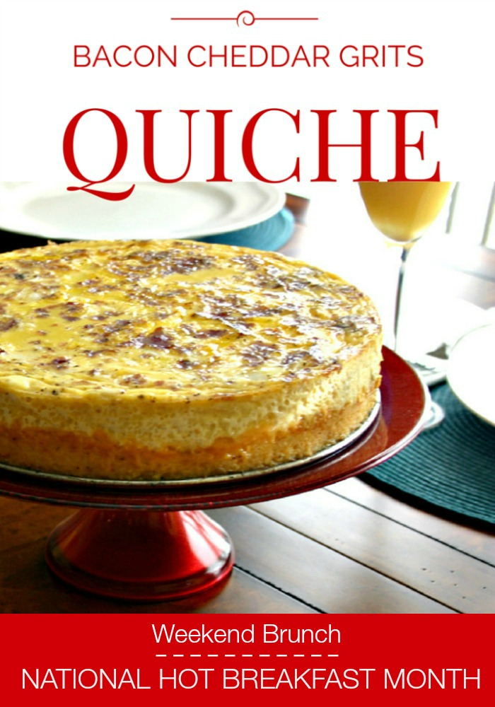 Recipes By Course Breakfast Quiches Bacon Cheddar Grits Quiche