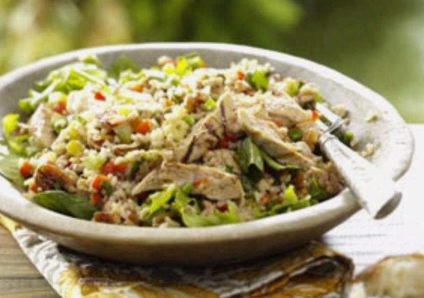 Brown Rice salad with apple and walnuts,red bell pepper - BigOven