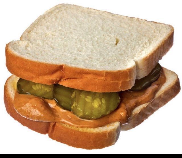 peanut butter and pickle sandwich. Black Bedroom Furniture Sets. Home Design Ideas