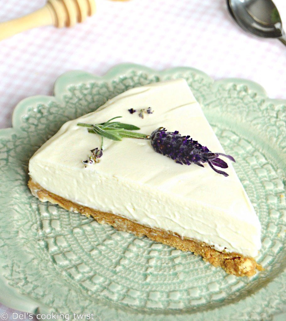 Honey Lavender Cheesecake Bars Recipe — Dishmaps