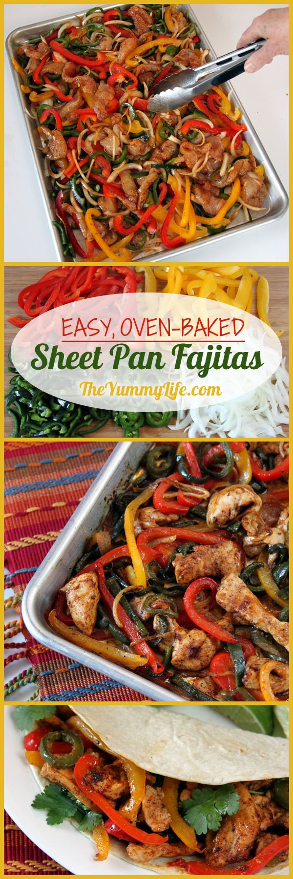 Sheet Pan Chicken Fajitas - BigOven
