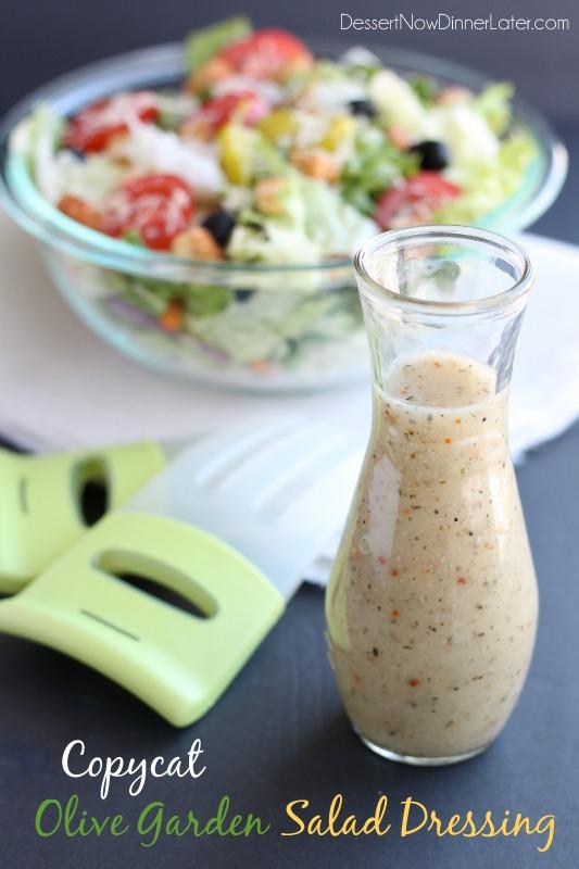 ... Salad Dressings and Vinaigrettes Copycat Olive Garden Salad Dressing