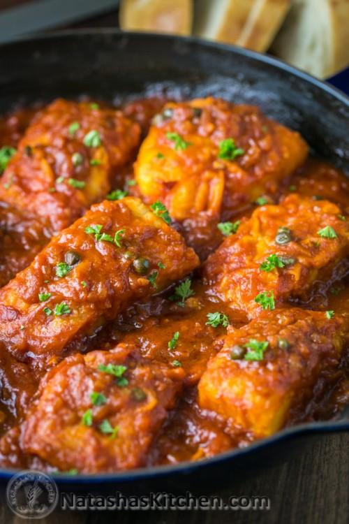 Cod Fish in Tomato Sauce - BigOven