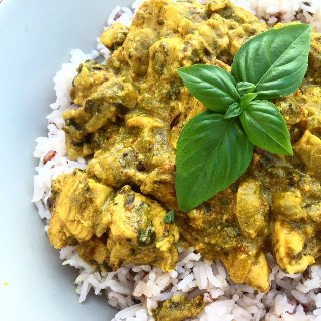 Recipes Course Main Dish Poultry Chicken Spinach and chicken curry