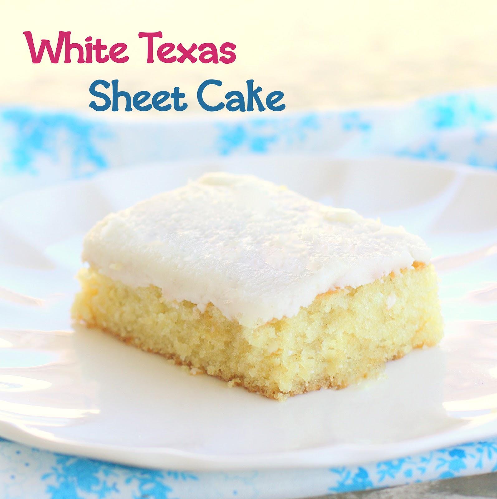 White Texas Sheet Cake With White Cake Mix