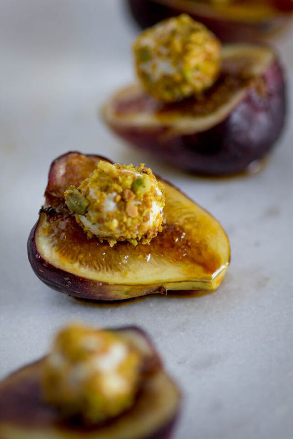 Fig, Pistachio and Honey Goat Cheese Bites - BigOven