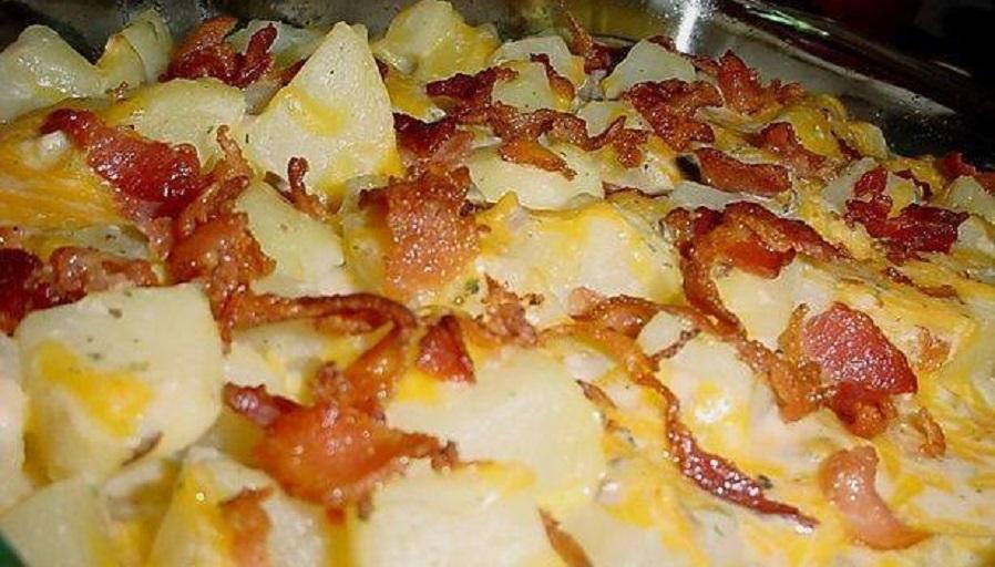 Recipes Course Side Dish Potatoes Bacon Ranch Potatoes Casserole