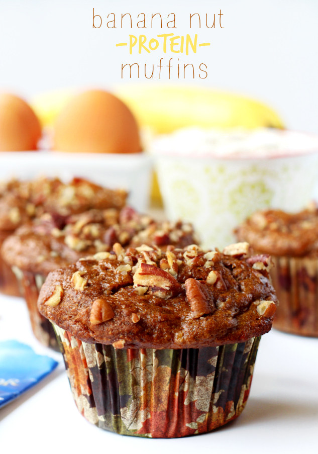 Recipes Course Bread Rolls and Buns Banana Nut Protein Muffins