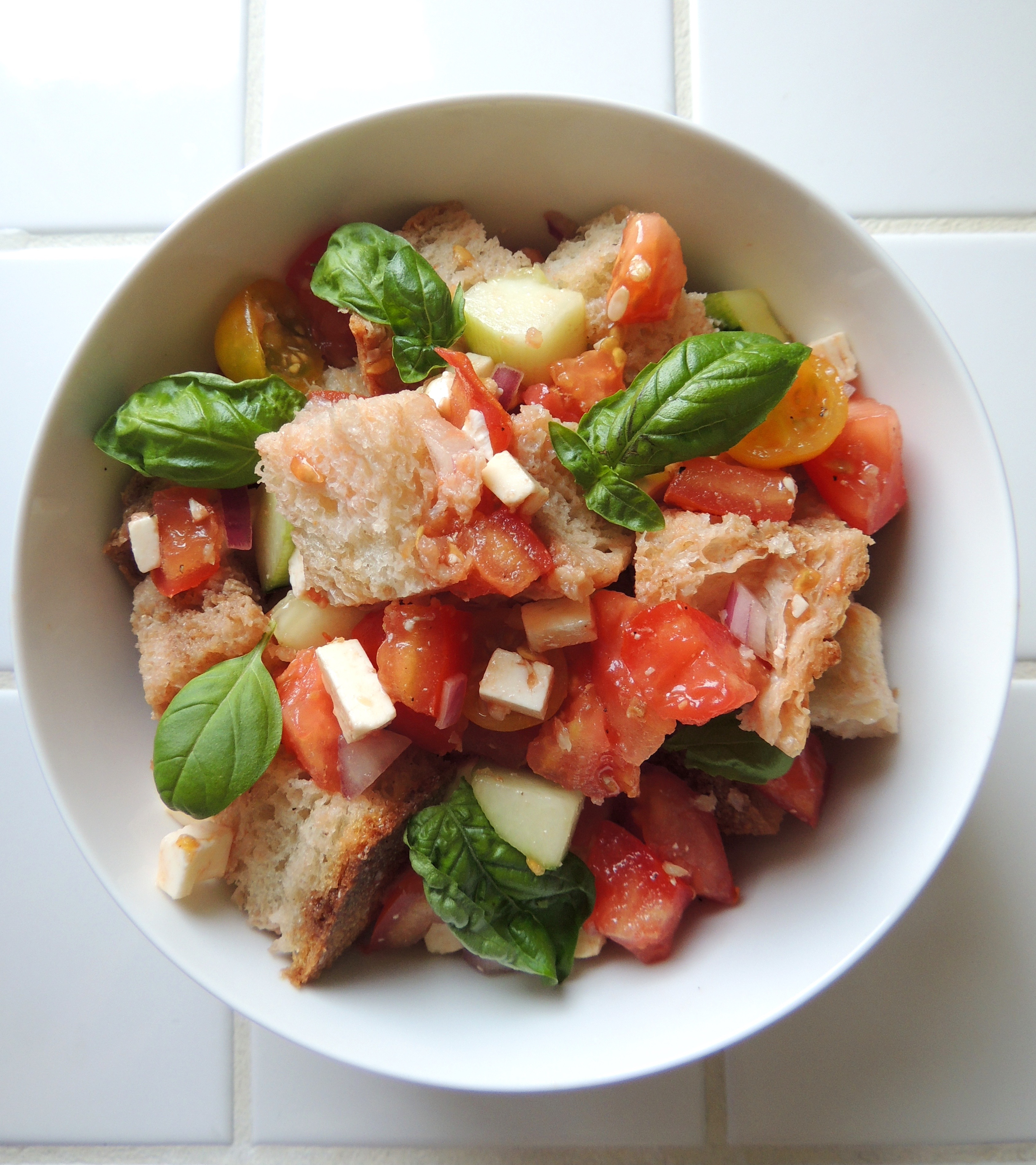 ... Salad Salads - Other Panzanella Panzanella with Tomatoes & Cucumber