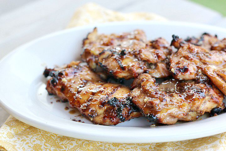 ... Dish Poultry - Chicken Grilled Honey Mustard GLazed Chicken Thighs