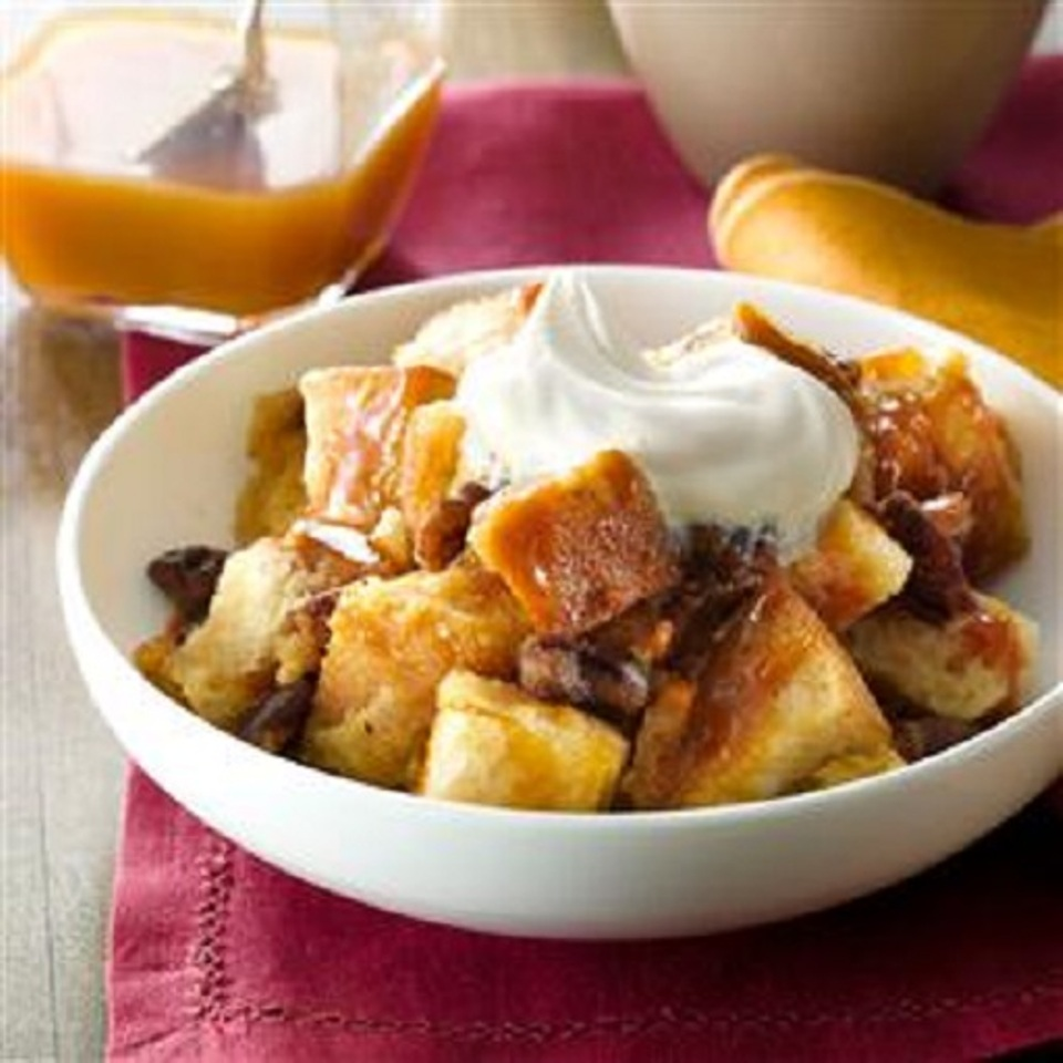 Pecan, Bourbon, and Butterscotch Bread Pudding Recipe | Epicurious.com