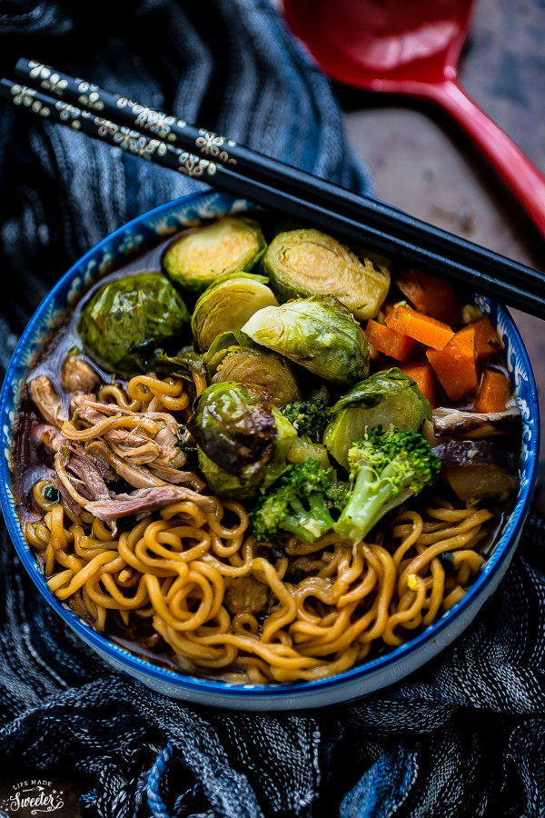 Turkey Ramen Noodle Soup with Brussels Sprouts - BigOven