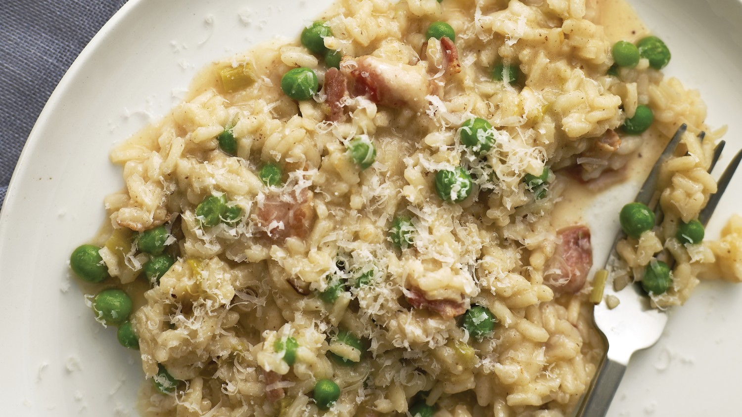 Leek, Bacon, and Pea Risotto - BigOven