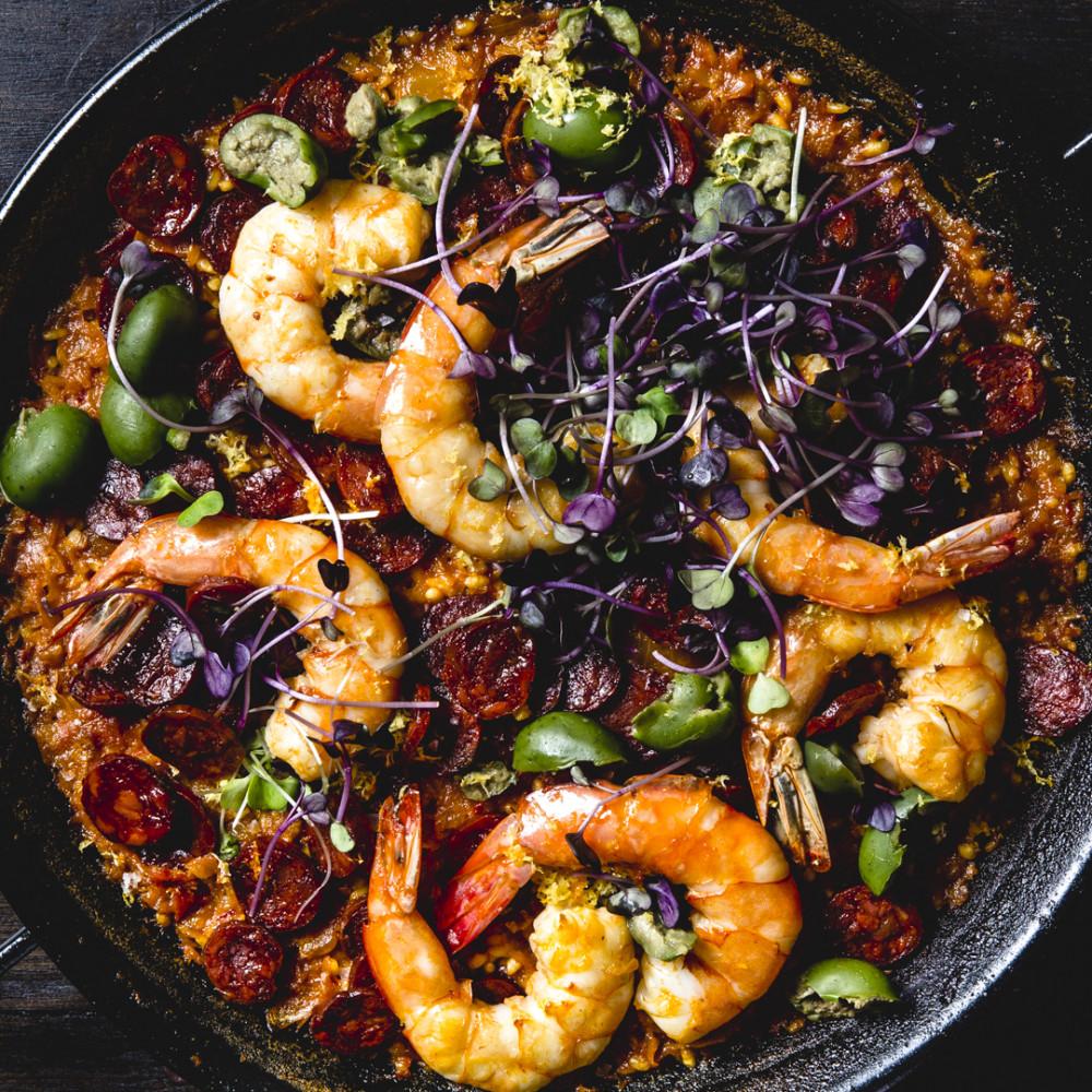 ... By Course Main Dish Fish and Shellfish Chorizo and Shrimp Paella