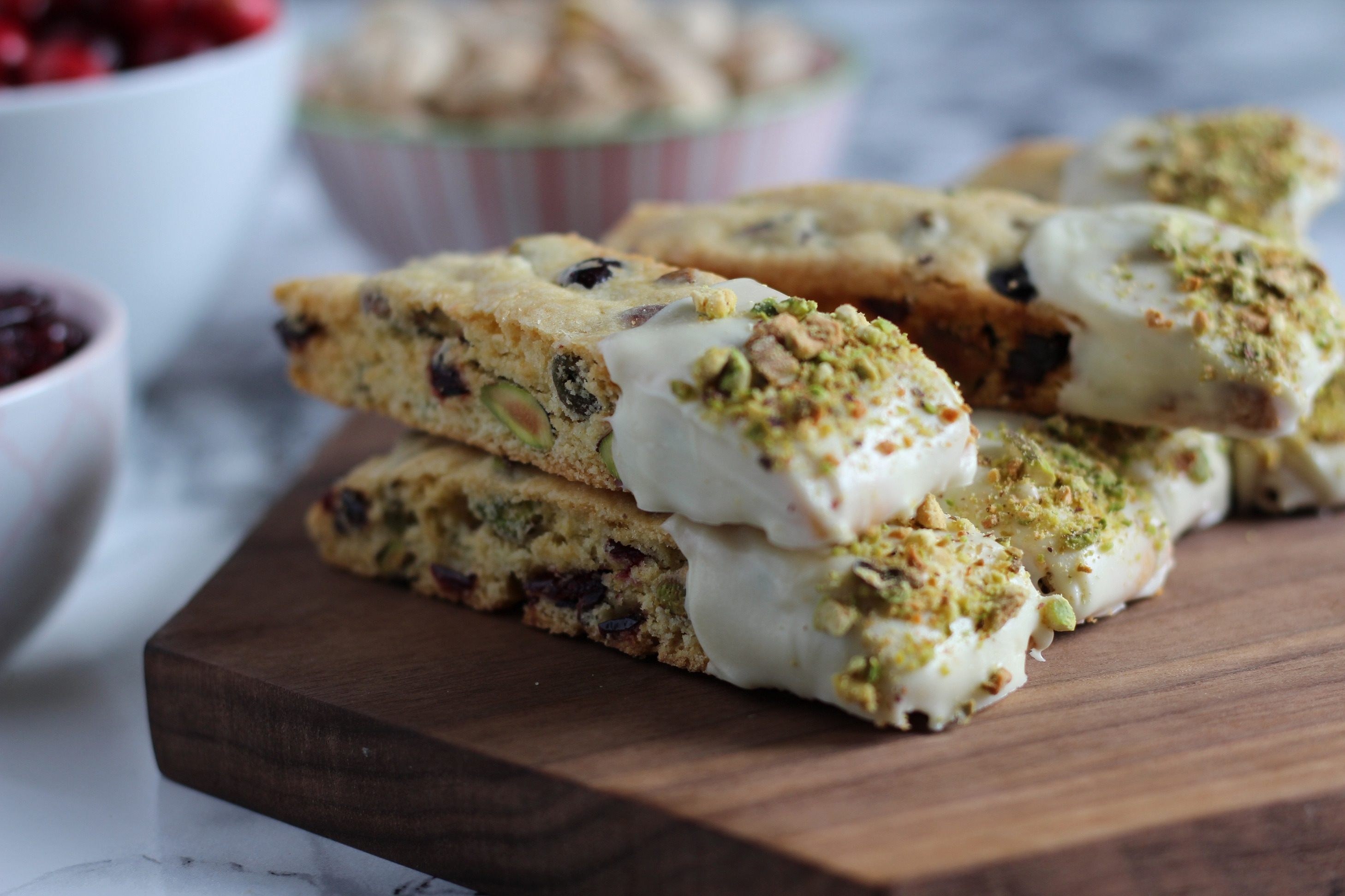 Recipes By Course Pistachio Cranberry Biscotti