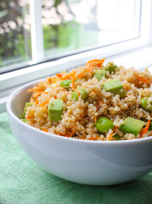 Recipes Course Edamame and Avocado Quinoa Salad
