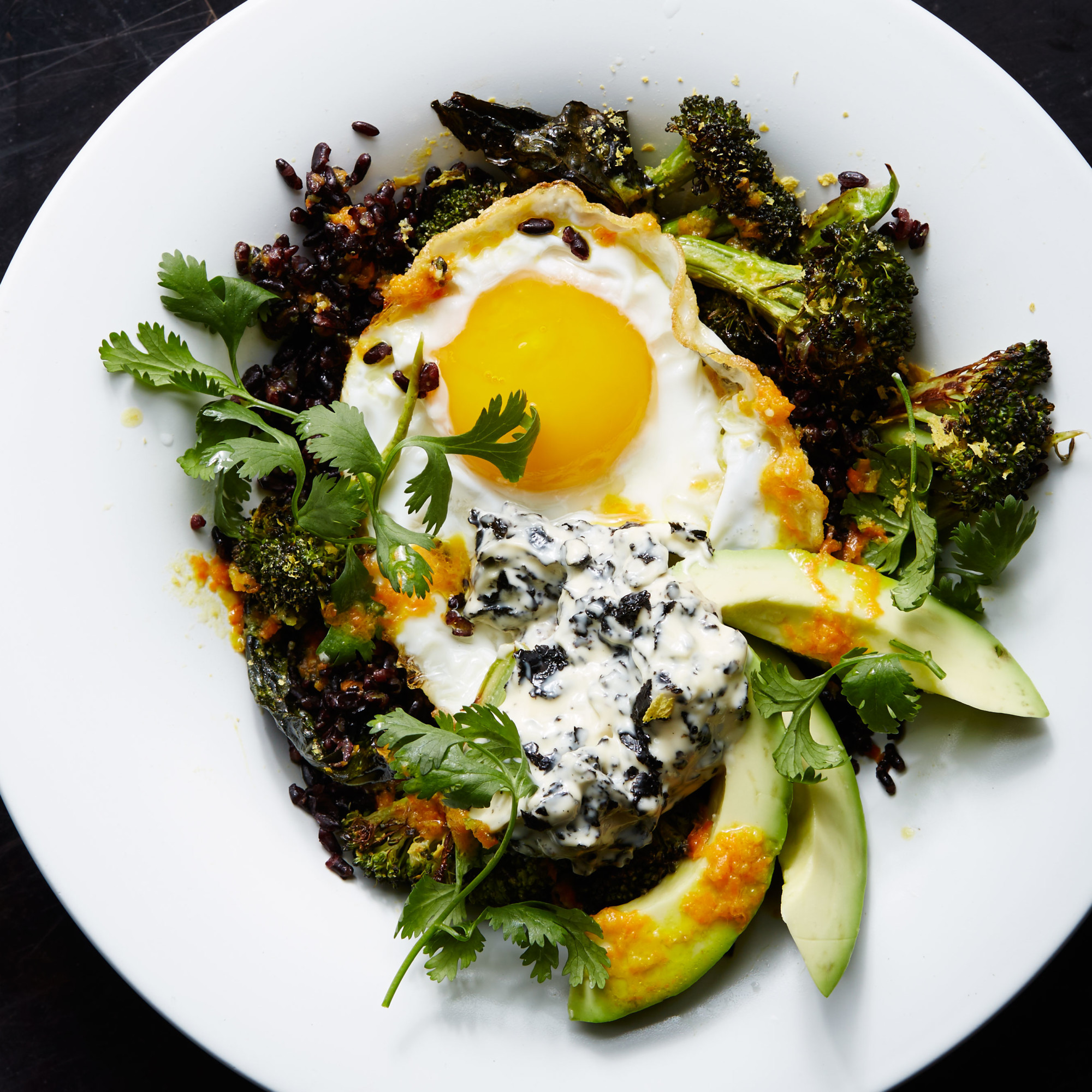 Recipes By Course Stir-Fried Black Rice with Fried Egg and Roasted ...