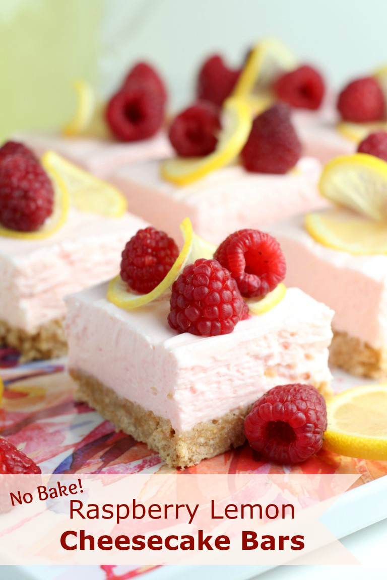 Recipes Course Desserts Cakes Raspberry Lemon No Bake Cheesecake Bars