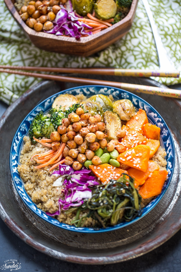Recipes By Course Main Dish Meatless Roasted Vegetable Buddha Bowls