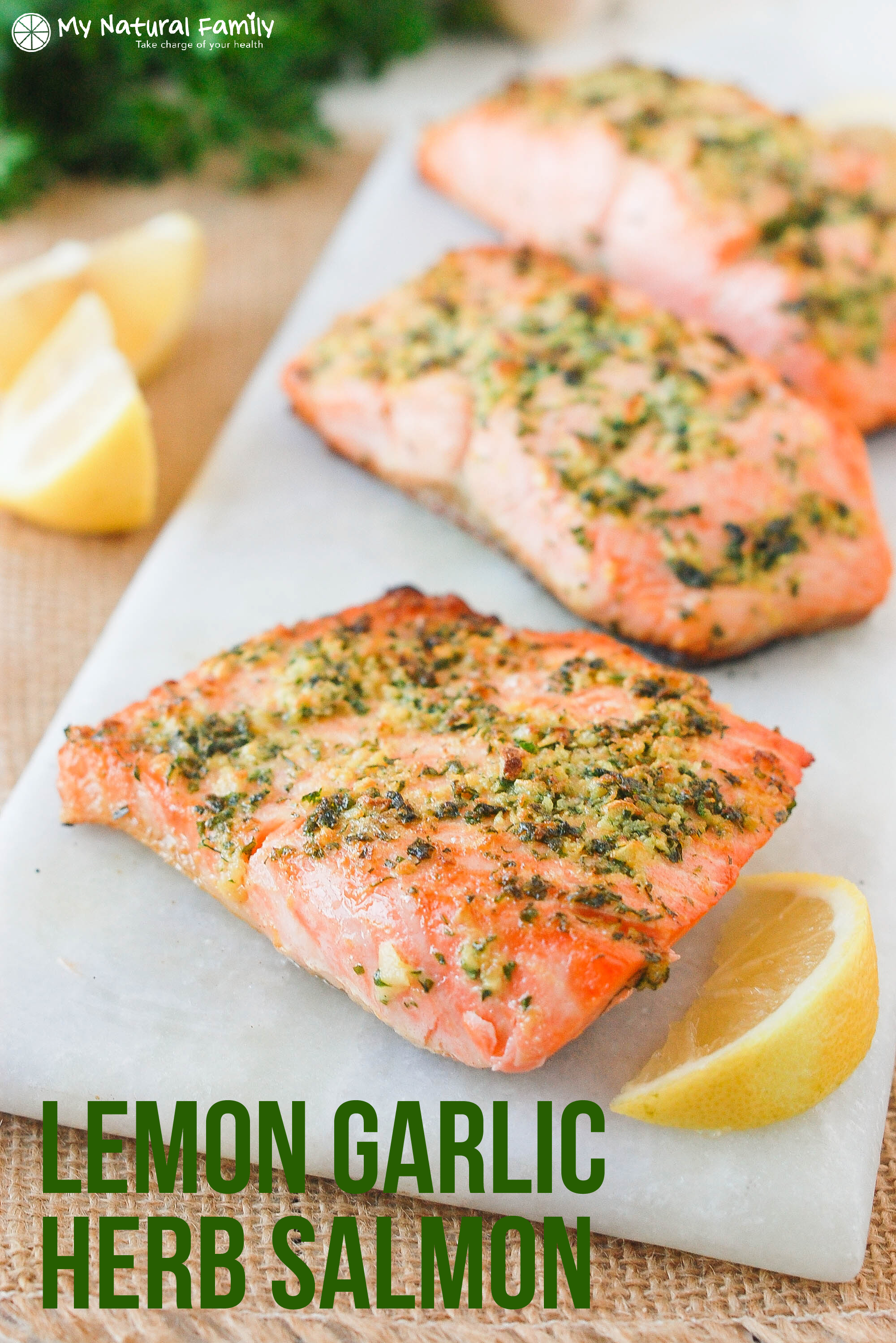 ... By Course Easy Baked Fish Recipe - Lemon Garlic Herb Crusted Salmon