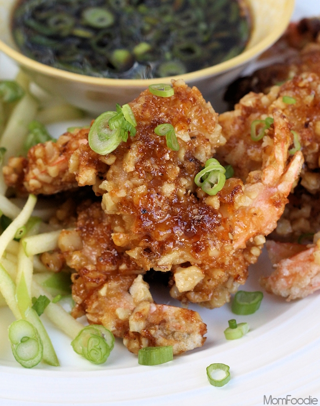... Course Candied Walnut Shrimp with Green Apple Slaw and Dipping Sauce