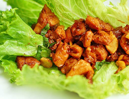 ... Course Main Dish Poultry - Chicken Chicken Cashew Lettuce Wraps