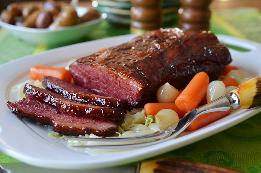 Corned Beef Brisket With Bourbon Amp Molasses Glaze