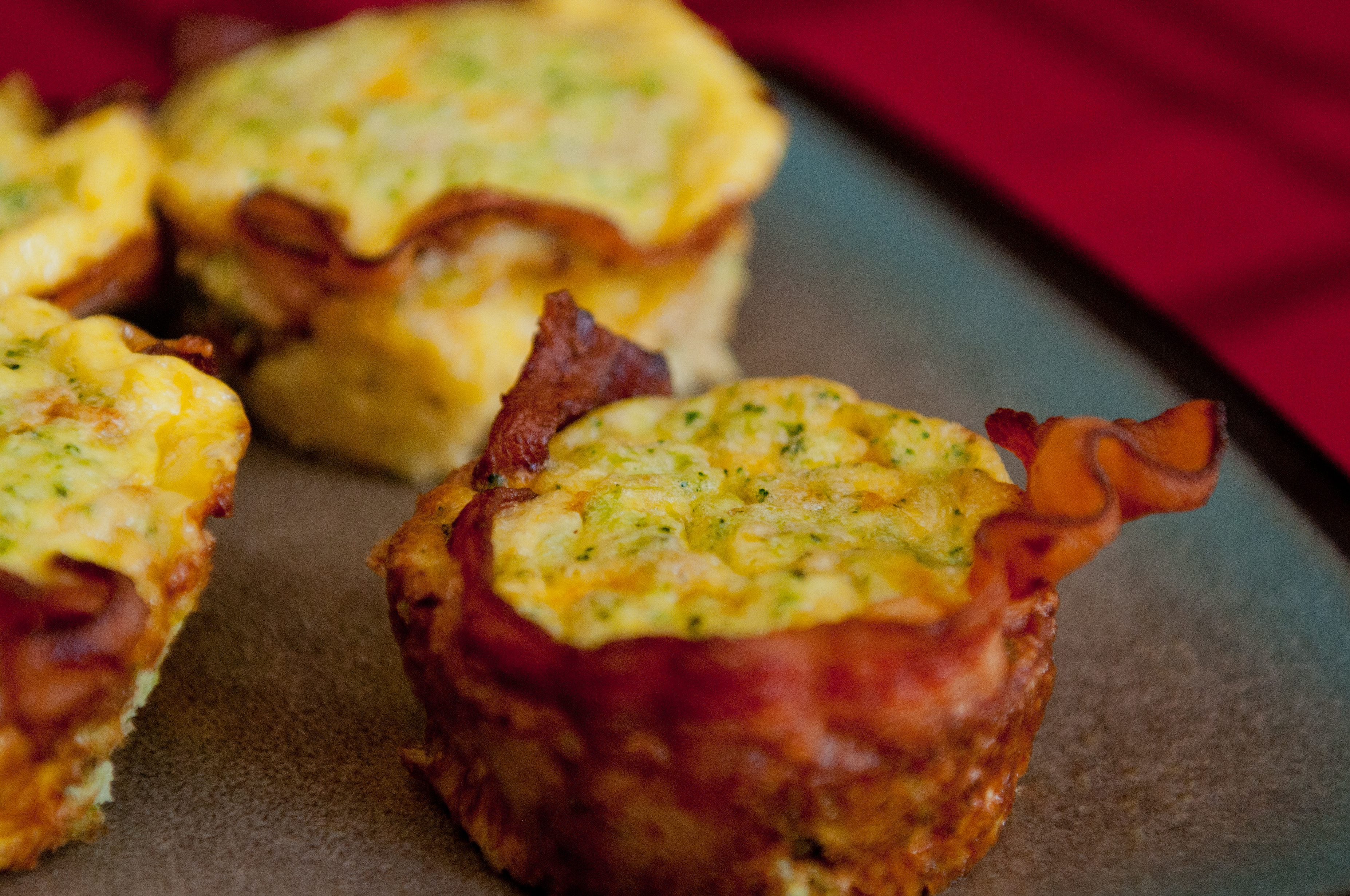 Keto Breakfast In A Cup Bacon Wrapped Egg Vegetable And